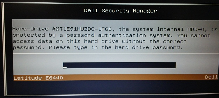 dell 1f66 hdd password
