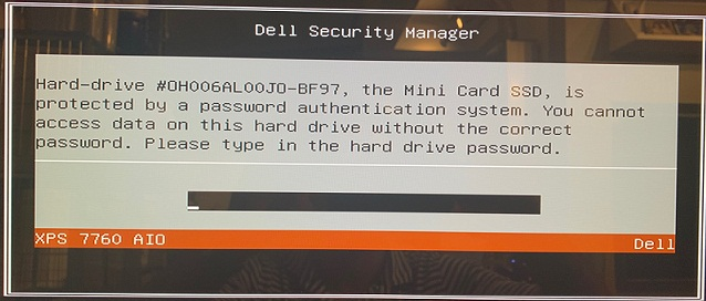 Dell Latitude 3290 hard drive password protected