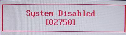Fujitsu system disable ( 5 digits )