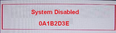 Fujitsu system disable ( 5 chars )