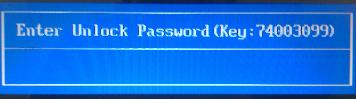 Bios password for hp laptop with Enter Unlock Password Key
